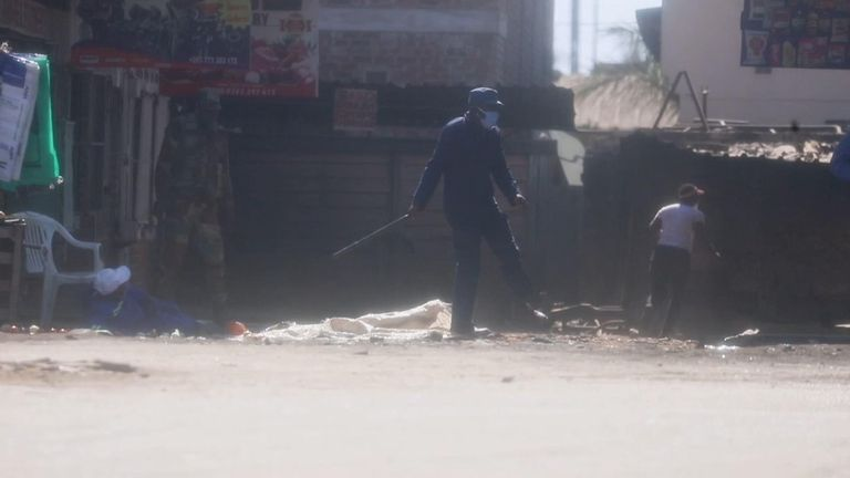 Residents in Harare fled in fear as police and soldiers struck them with batons