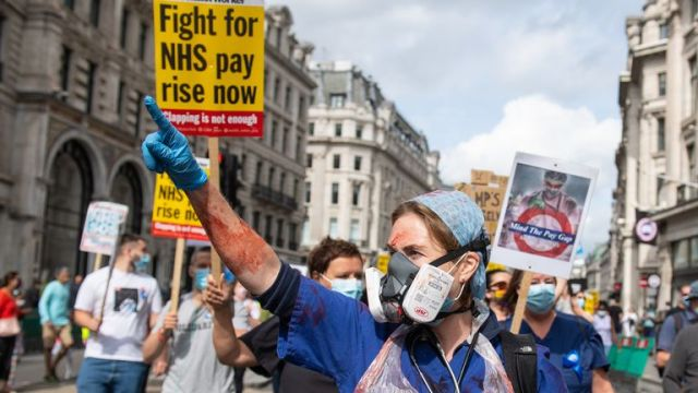 Nurses were left out of a pay rise for 900,000 public sector workers in July