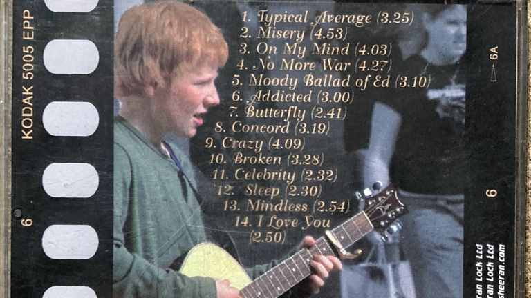Sheeran wrote the album when he was 13. Pic: Omega Auctions