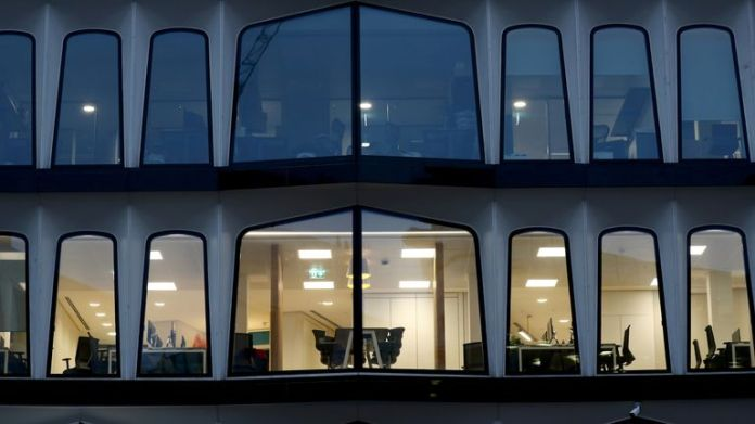Empty offices in London as pandemic continues