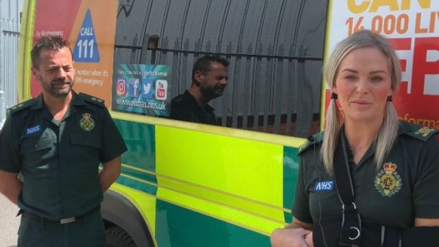 Paramedics Michael Hipgrave and Deena Evans were stabbed during a callout. Pic: West Midlands Ambulance Service