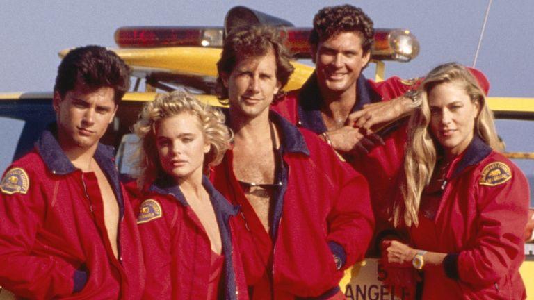 Baywatch - Season 1, 1989 - 1990, Billy Warlock, Erika Eleniak, Parker Stevenson, David Hasselhoff and Shawn Weatherly. Pic: Fremantle Media