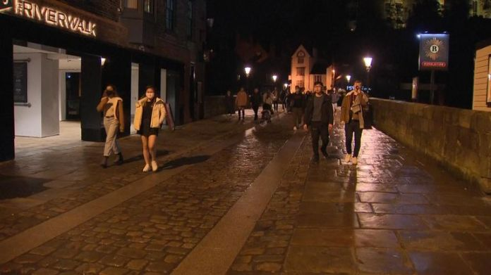 Durham is quiet at night as people return home after 10 p.m.