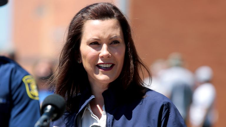 Gretchen Whitmer has said 'hatred, bigotry and violence have no place in the state of Michigan'. File pic