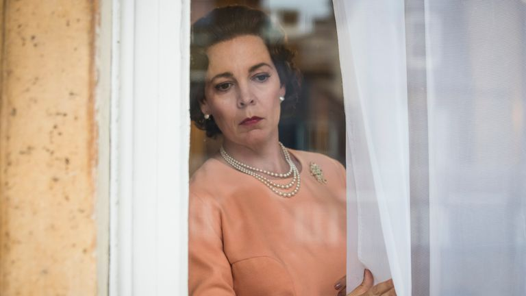 Olivia Colman as the Queen in The Crown. Pic: Netflix/Sophie Mutevelian