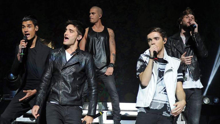 The Wanted performing in 2014