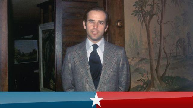 1/1973- Wilmington, DE: Closeups of Senator of Joseph Biden. Undated color slide.