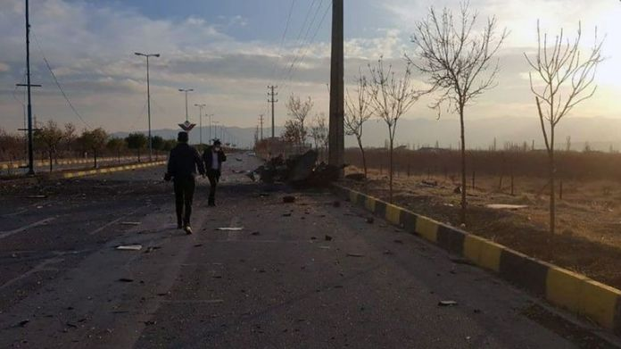 View shows site of attack that killed prominent Iranian scientist Mohsen Fakhrizadeh