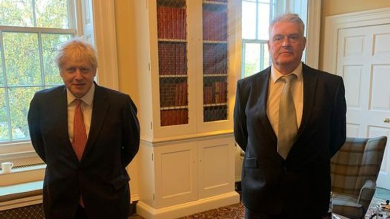 Lee Anderson (R) posted a picture of him with the PM after their meeting on Thursday. Pic: Facebook/Lee Anderson
