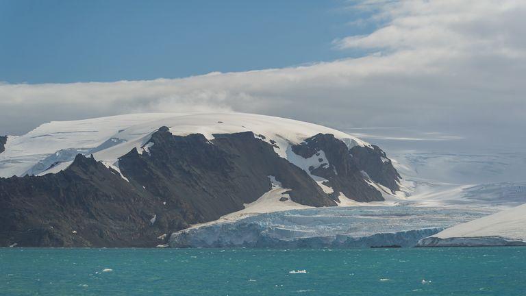 View of the Lange Glacier, Antarctica