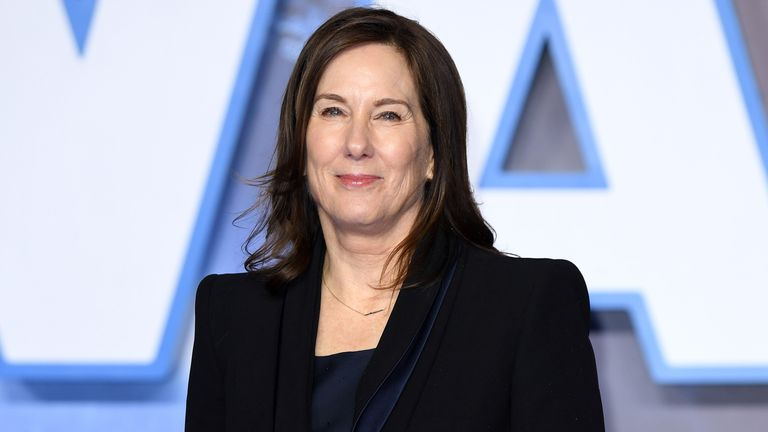 """LONDON, ENGLAND - DECEMBER 18: Kathleen Kennedy attends the """"Star Wars: The Rise of Skywalker"""" European Premiere at Cineworld Leicester Square on December 18, 2019 in London, England. (Photo by Karwai Tang/WireImage)"""
