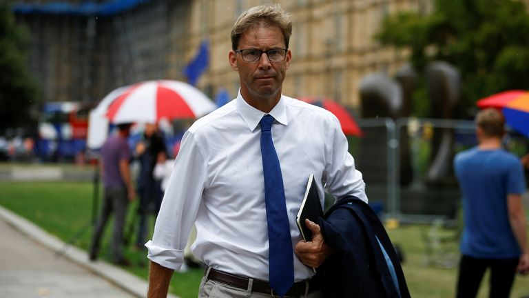 British MP Tobias Ellwood walks outside the Houses of Parliament in London, UK on August 28, 2019. REUTERS / Henry Nicholls