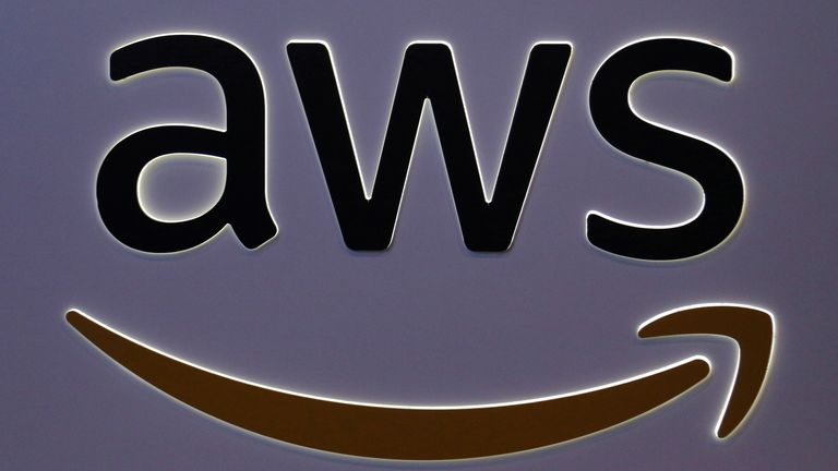 FILE PHOTO: The Amazon Web Services (AWS) logo can be seen at the SIBOS Banking and Finance Conference on October 19, 2017 in Toronto, Ontario, Canada. REUTERS / Chris Helgren / File Photo