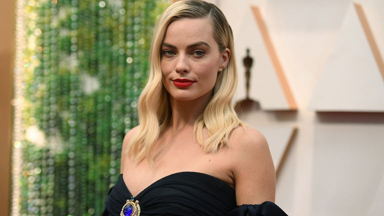 Margot Robbie arrives at the Oscars on Sunday, Feb. 9, 2020, at the Dolby Theatre in Los Angeles. Pic: AP