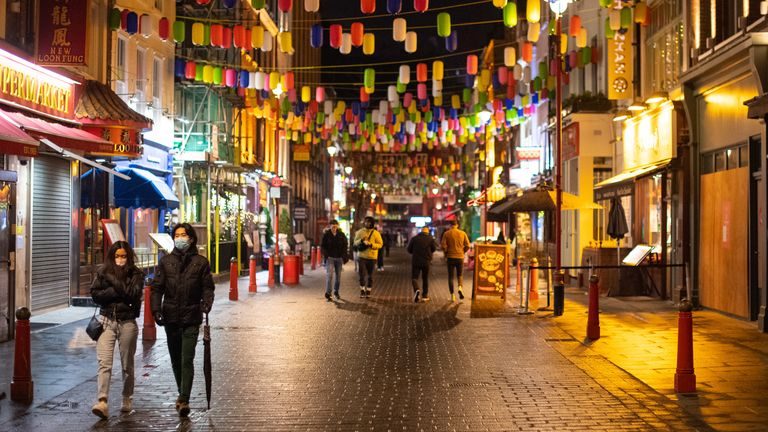 Chinatown in London pictured in December 2020