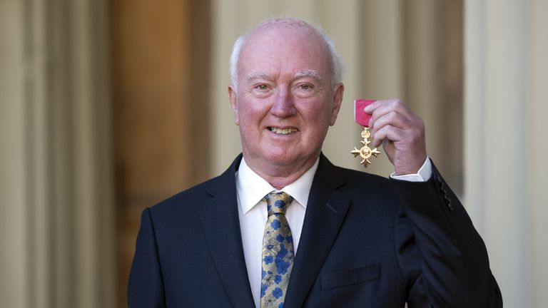 Peter Lawrence received an OBE medal for his work to support the relatives of missing people
