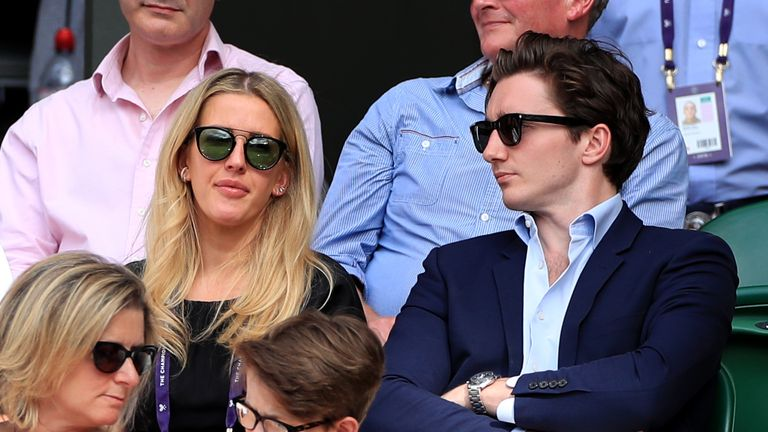 Ellie Goulding (left) and Caspar Jopling (right) tied the knot in August 2019
