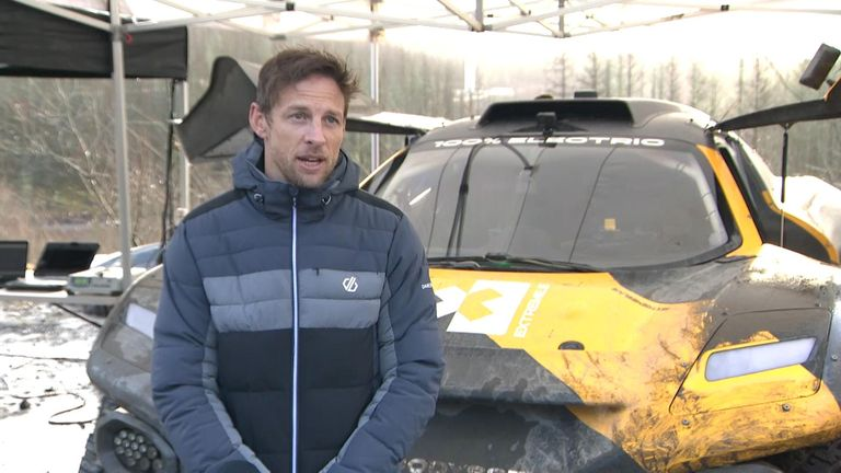 Formula 1 world champion Jenson Button spent two days in the Welsh Valleys test with a 100% electric SUV
