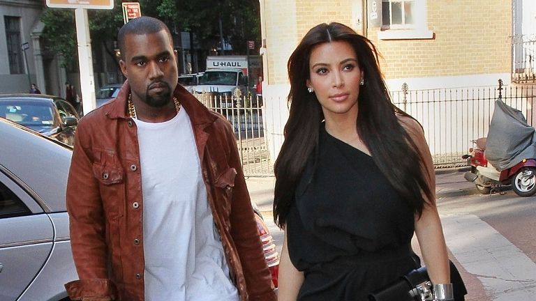 """Photo by: XPX/STAR MAX/IPx.2021.2/19/21.Kim Kardashian files for divorce from Kanye West after 6 years of marriage...STAR MAX File Photo:.4/29/12.Kim Kardashian and Kanye West have a fun-filled romantic day  together - first going to Serafina for lunch and then going to see the Broadway Play, """"Wicked"""".  They finished with dinner at """"Joseph Leonard"""", an ice cream at Haagen Dazs and then went to the movies to see, """"Think Like a Man""""..(NYC)"""