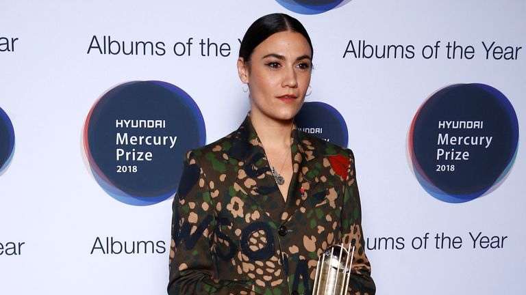Nadine Shah, whose album 'Holiday Destination' has been nominated for the Mercury Prize 2018, poses for a photograph ahead of the ceremony at the Hammersmith Apollo in London, Britain, September 20, 2018. REUTERS/Henry Nicholls
