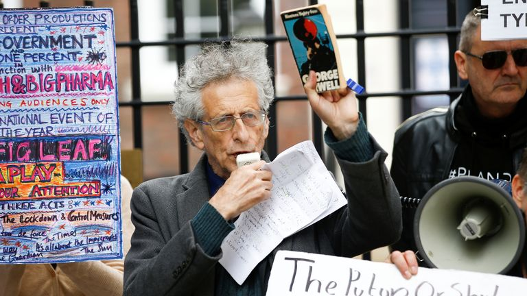 Piers Corbyn is a regular at anti-lockdown and anti-vaccine protests