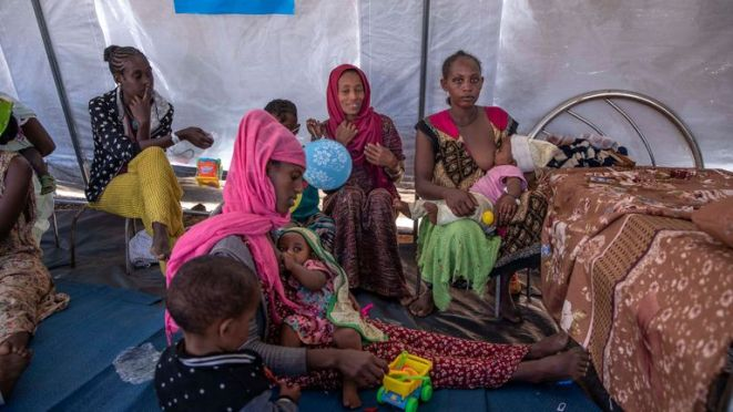 Twenty million children have gone without essential vaccines due to the pandemic and conflict, such as that in Ethiopia's Tigray region