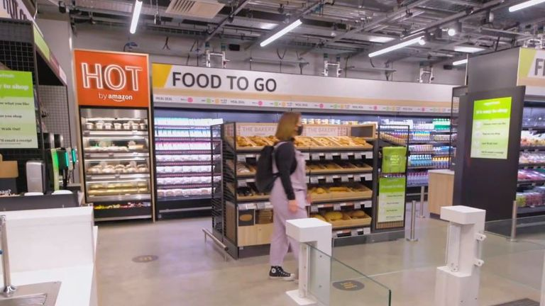 New Amazon Fresh in Ealing, the company's first physical store outside of the United States. Image: Amazon UK