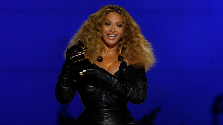 Beyoncé is the most decorated female artist in Grammy history.  Pic: AP