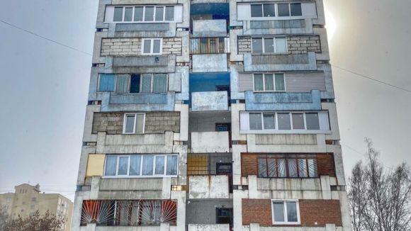 The blue building and blue corridor are Leningradsky Proskpekt, Kemerovo where the murder happend.  In flat 738.