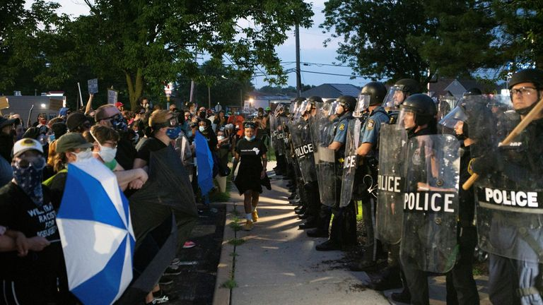 Residents of Florissant, Missouri were among those who protested against police brutality last year