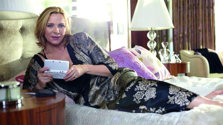 Kim Cattrall featured in a 2012 Nintendo advert. Pic: Nintendo/Shutterstock