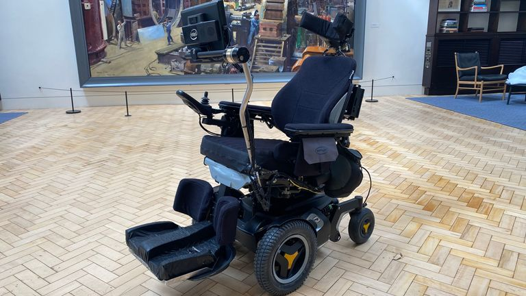 The scientist's wheelchair. Image: Science Media Group