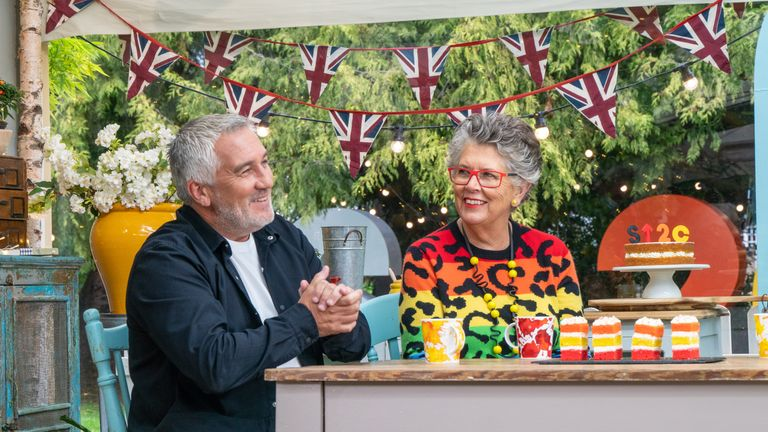 EMBARGOED TO 0001 TUESDAY MARCH 2 Undated Handout Photo from The Great Celebrity Bake Off For SU2C. Pictured: Paul Hollywood, Prue Leith. See PA Feature SHOWBIZ TV Bake Off. Picture credit should read: Channel 4/Love Productions/Mark Bourdillon. WARNING: This picture must only be used to accompany PA Feature SHOWBIZ TV Bake Off. Channel 4 images must not be altered or manipulated in any way. This picture may be used solely for Channel 4 programme publicity purposes in connection with the current broadcast of the programme(s) featured in the national and local press and listings. Not to be reproduced or redistributed for any use or in any medium not set out above.