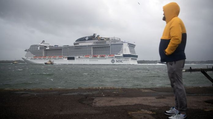 The MSC Virtuosa departed from the Port of Southampton on 20 May