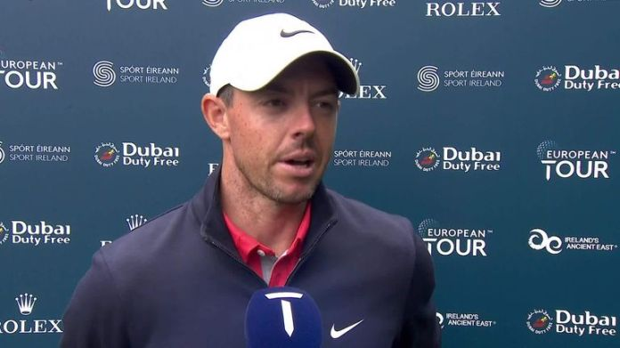 Rory McIlroy was happy with an improved all-round performance in his second-round 67 at the Irish Open, where he insists he is not affected by expectation.