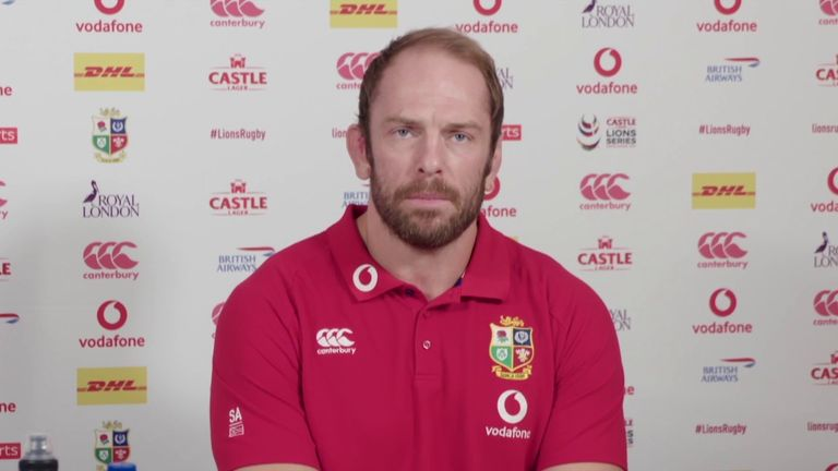 British and Irish Lions captain Alun Wyn Jones says the squad are in South Africa to win the Test series, and insists his rapid recovery from dislocating his shoulder wasn't solely down to him.