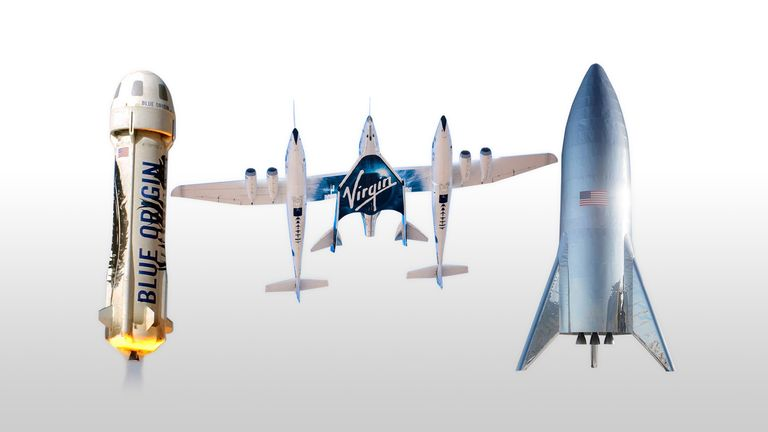 Blue Origin, Virgin Galactic, and SpaceX all developed their own spaceship