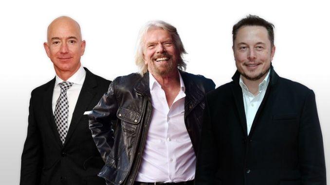 Jeff Bezos, Sir Richard Branson, and Elon Musk are racing to the stars