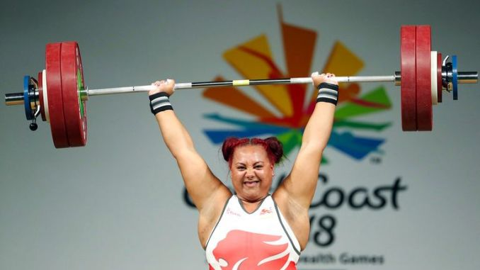 Emily Campbell at the Commonwealth Games in 2018. Pic: AP