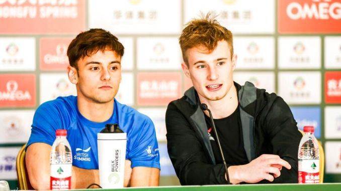 Tom Daley (left) will compete in Rio with first-timer Matty Lee. Pic: AP