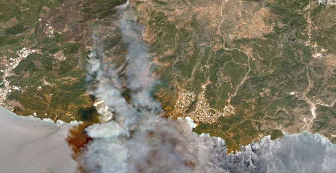 Turkey wildfires: Satellite images show devastation caused by deadly fires | World News