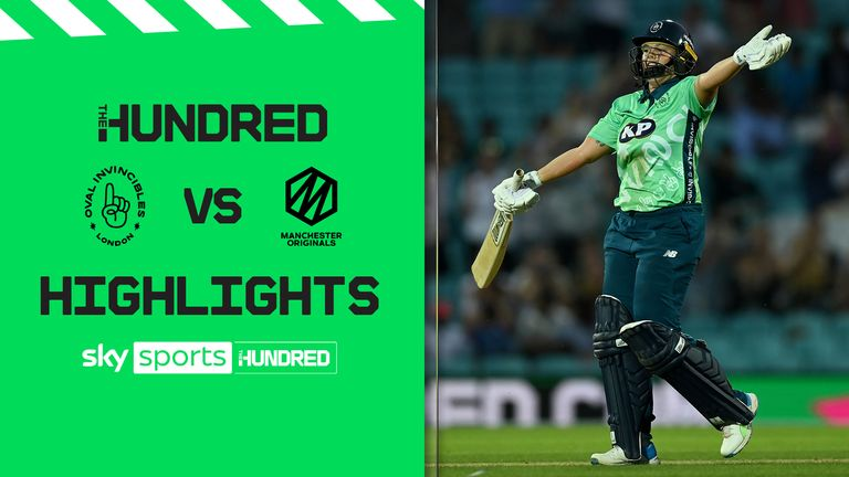 The best of the action from the opening match of The Hundred as the Oval Invincibles beat the Manchester Originals. in a thriller