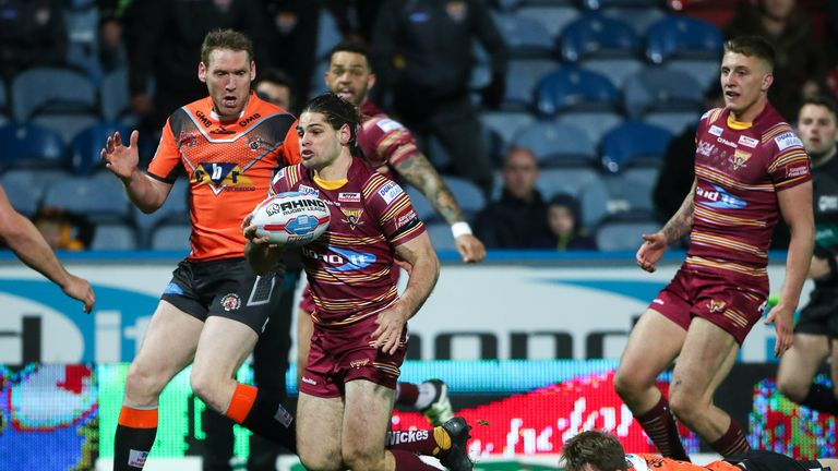 Jake Mamo scored his first Super League hat-trick came in Huddersfield's 26-21 defeat to Castleford Tigers in 2017.