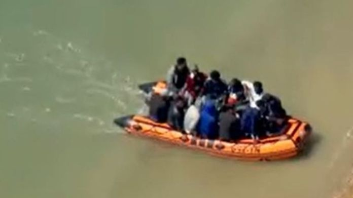 Many migrants arrive in the UK after travelling across the English Channel on boats