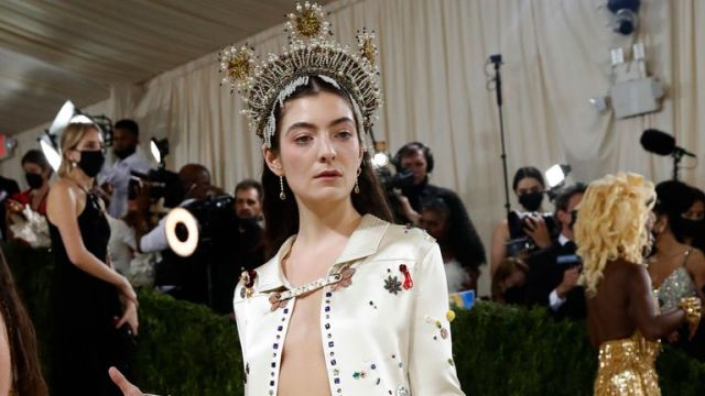 Metropolitan Museum of Art Costume Institute Gala - Met Gala - In America: A Lexicon of Fashion - Arrivals - New York City, U.S. - September 13, 2021. Lorde. REUTERS/Mario Anzuoni