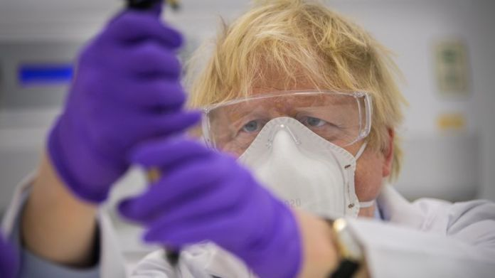 Valneva's vaccine is being made at its plant in Scotland and is currently in the third phase of trials. Boris Johnson was pictured trying one of the tests when he visited the laboratory