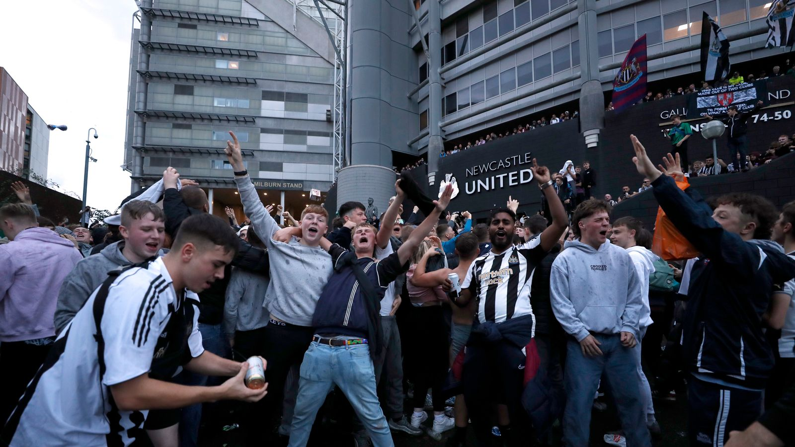 The new owners, celebrated by fans in … Newcastle United: Supporters hail takeover and say it's ...