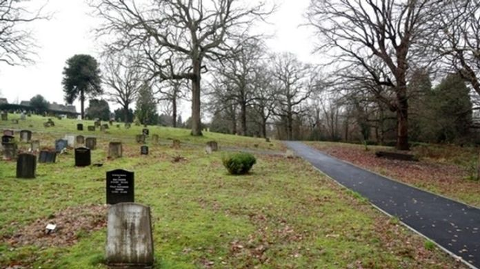 A view of Haywards Heath cemetery where the body was buried then exhumed