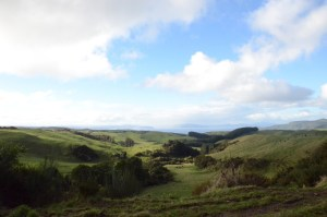 View from the Western Bays of iconic Lake Taupo, the largest Freshwater Lake in New Zealand]