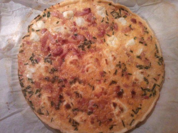 Quiche Lorraine Courgettes Tomates et chêvre